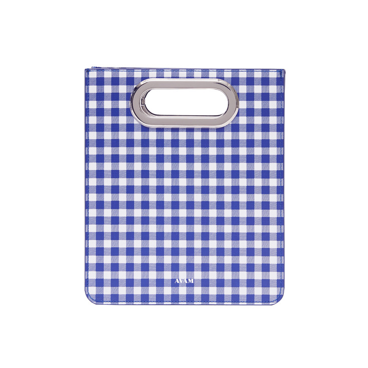 Gingham Blue Toast Bag