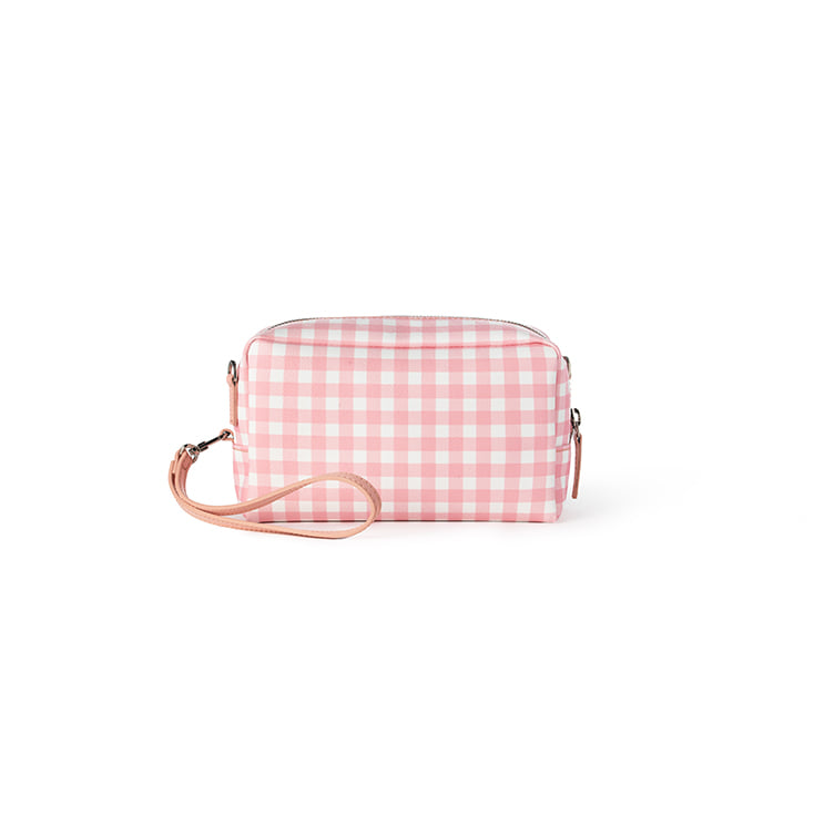 Gingham Candy Pouch Bag (Pink)