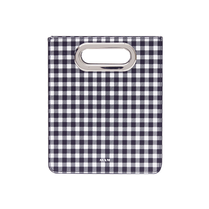 Gingham Black Toast Bag