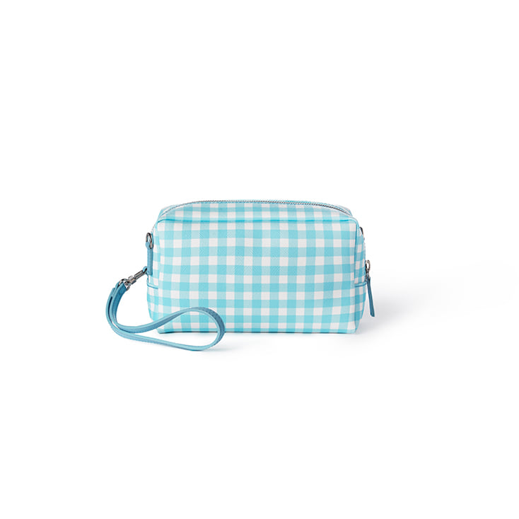 Gingham Candy Pouch Bag (Blue)